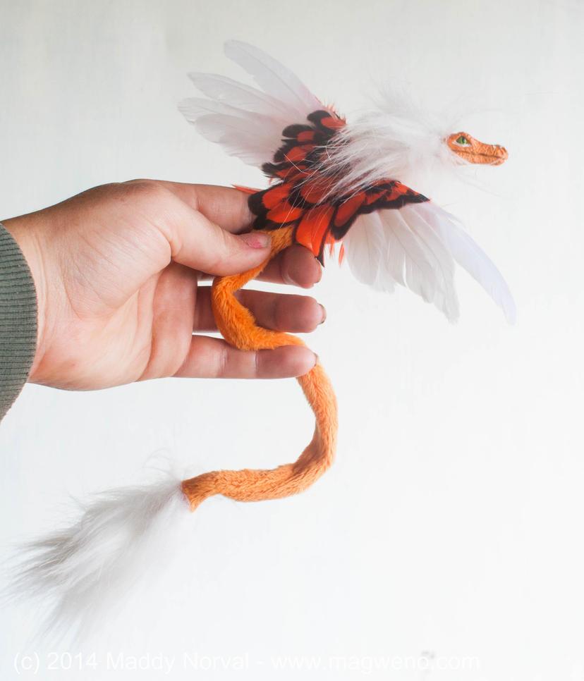 Orange and White Alligatoroid Ophae by Magweno