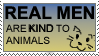 STAMP: Real Men Are Kind by Mottenfest