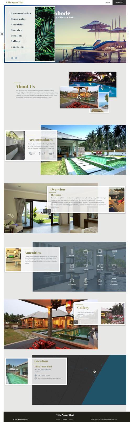 Villa-Naam-Thai Menu by ganeshtiskar