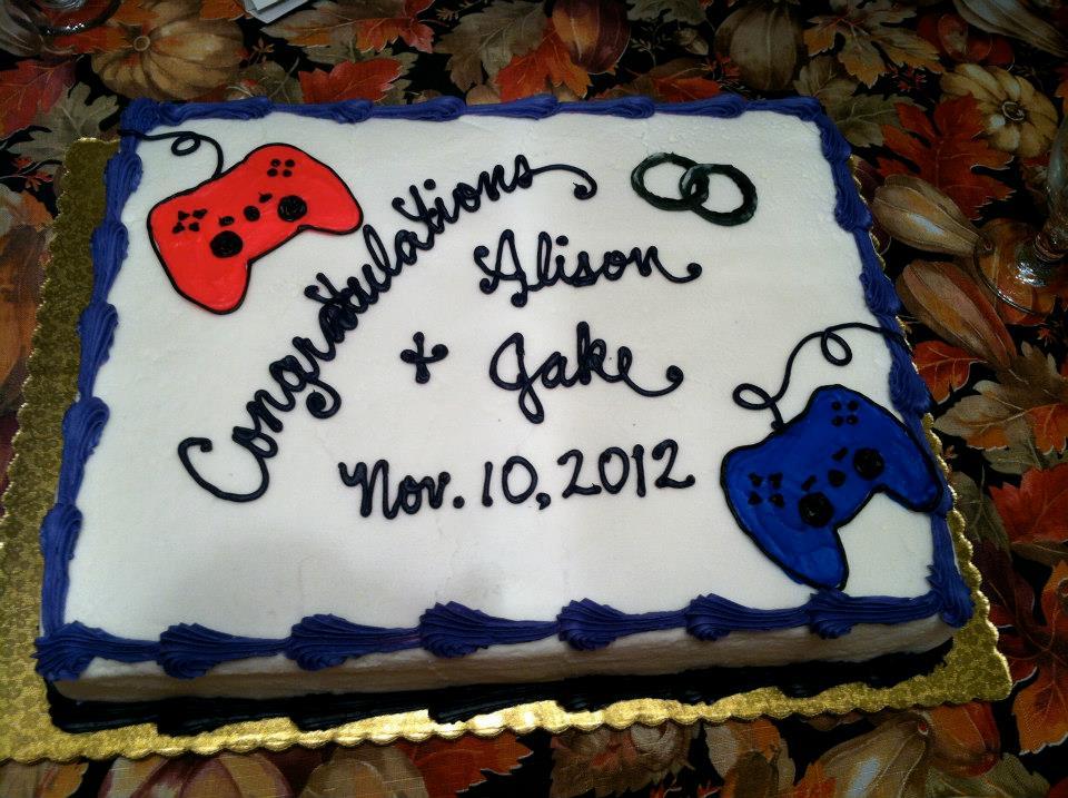Video Game Controller Wedding Cake By Mnemosynekurai