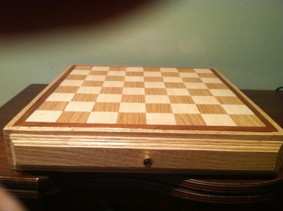 Handmade Chessboard by Stickreaper93