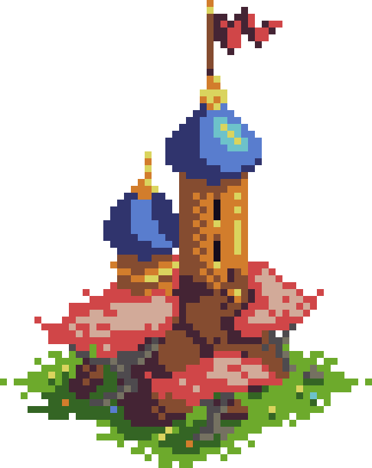 Pixel Dailies - Towers by scarlet42
