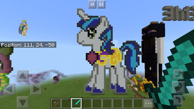 Shining Armor Minecraft Pixel Art By Mineponydash On