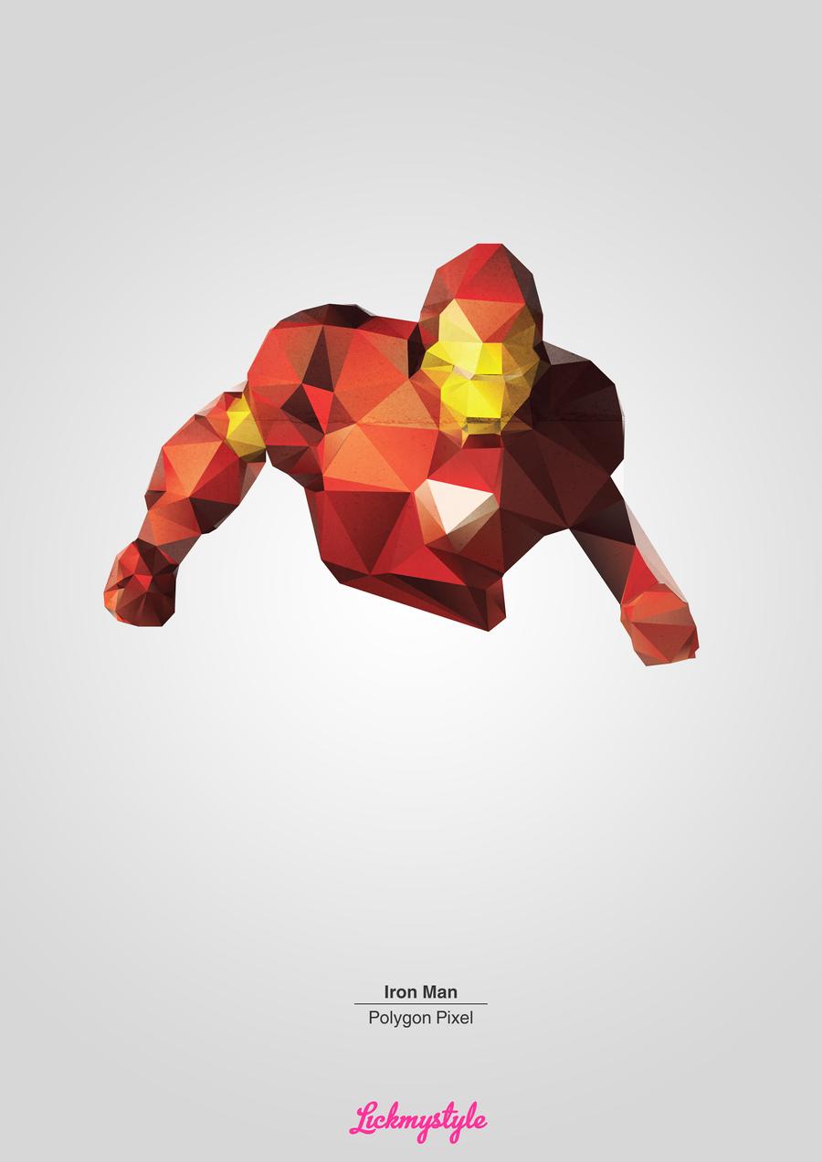 Iron Man - Polygon Pixel by matu666