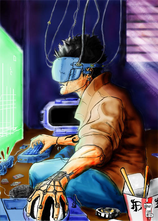 cyberpunk hacker by mercikos