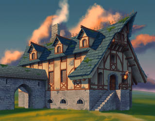 Tavern building final by mercikos