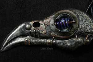 steampunk teslapunk shamanic raven skull