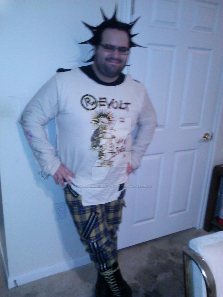 me as a pogo punk by RamseyThePunkRockGod