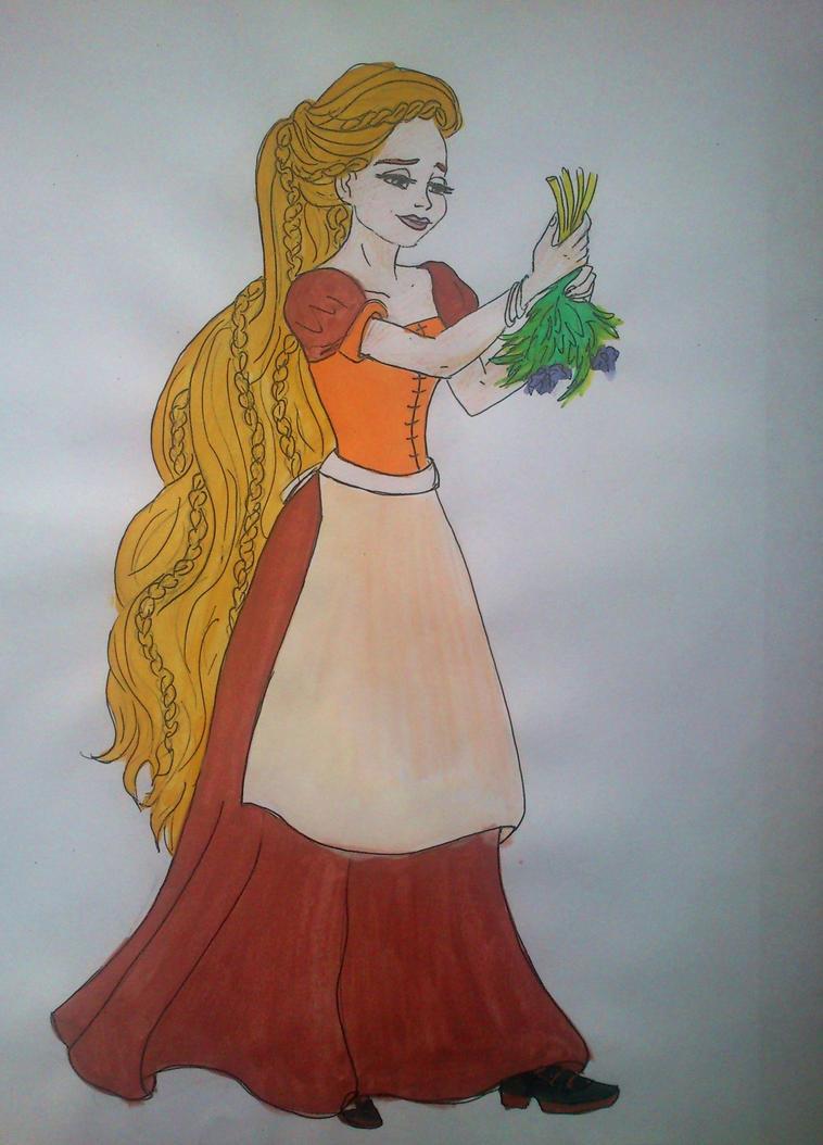 Rapunzel medieval times by Estelior
