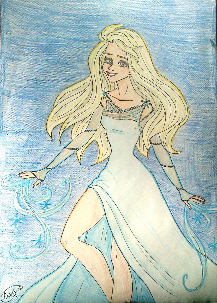 Elsa's new dress by Estelior