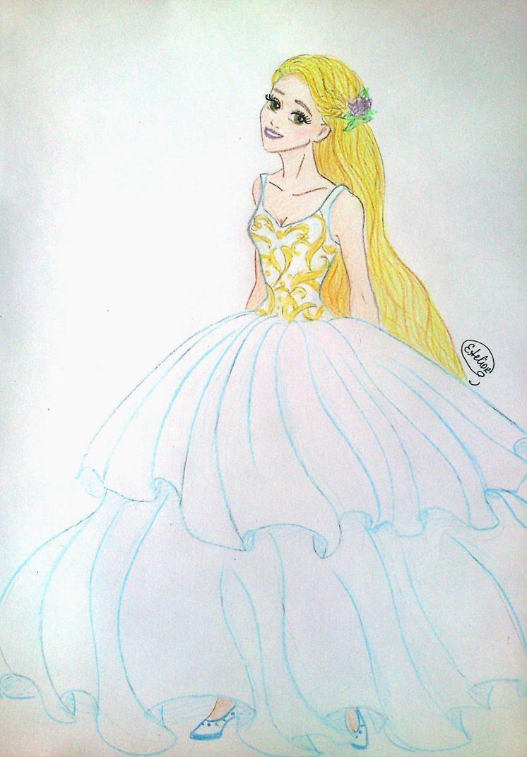 Rapunzel in blue by Estelior