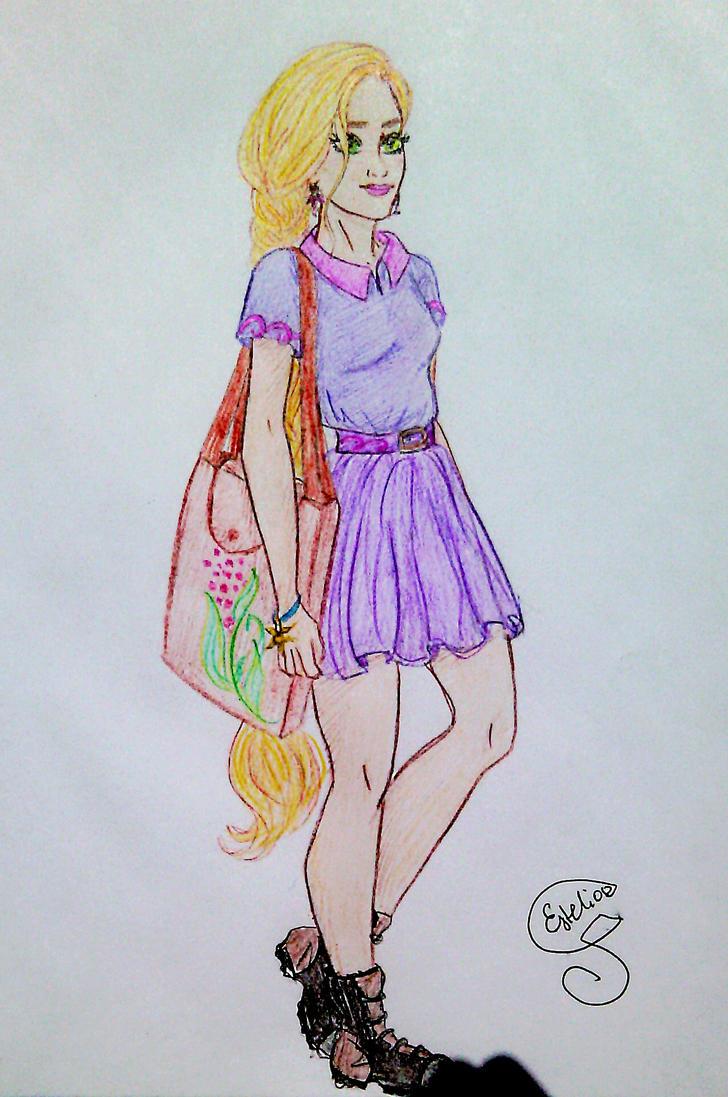 Modern Rapunzel by Estelior