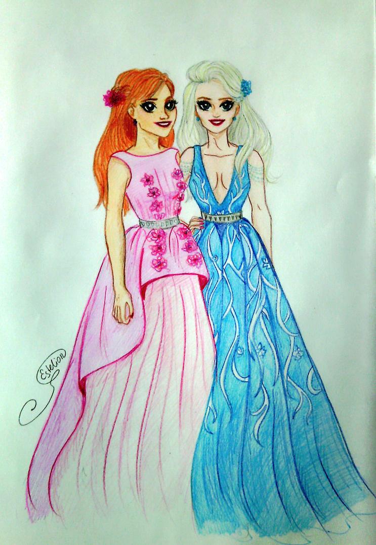 Frozen sisters by Estelior