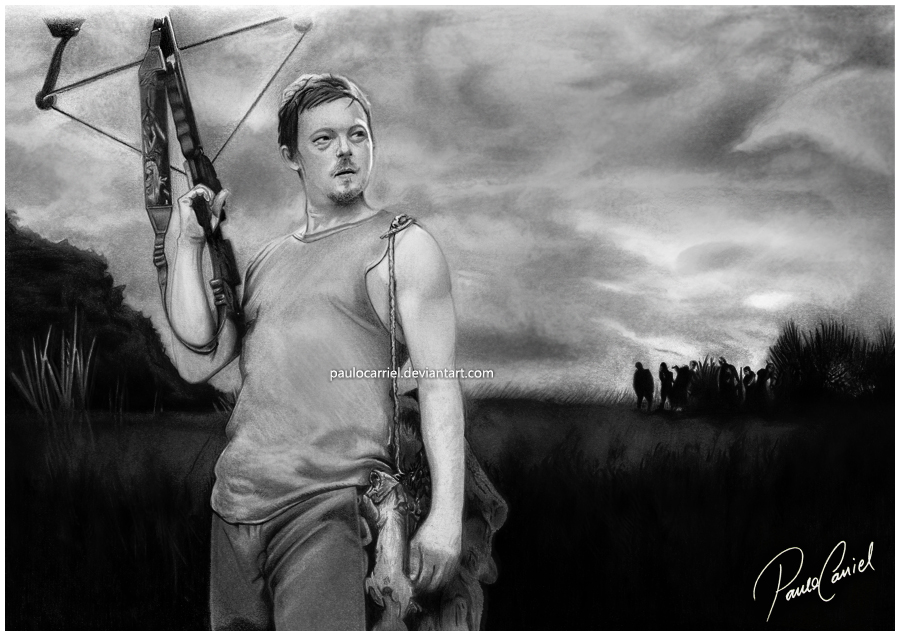 Daryl Dixon - The Walking Dead by PauloCarriel