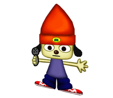 Parappa Holding A Microphone