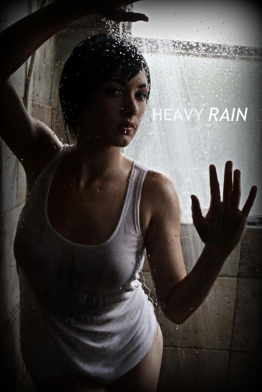 Madison paige heavy rain shower
