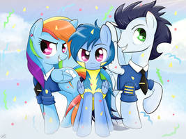 Commission I: Family of Proud Wonderbolts by Riouku