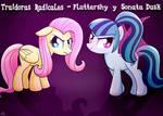 Traidoras Radicales - Fluttershy y Sonata Dusk