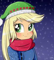 Cute Girl Applejack by Riouku