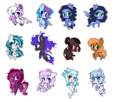 COM: Simple Chibi Pony Stack #01 by Riouku