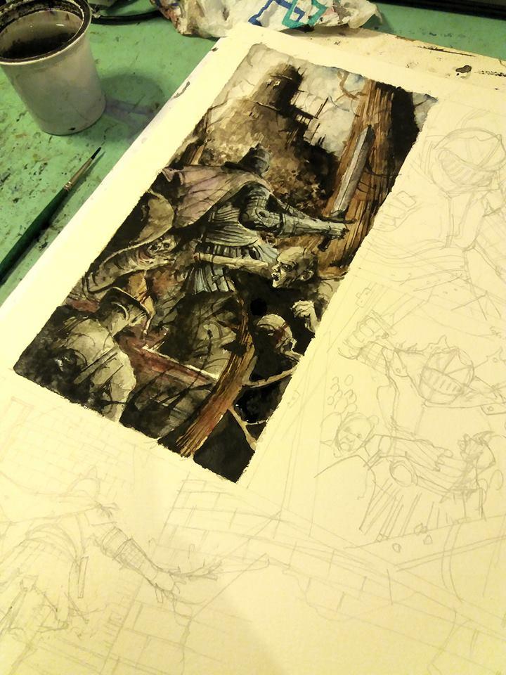 Dark Souls comic. Progress. by Daniele-Serra