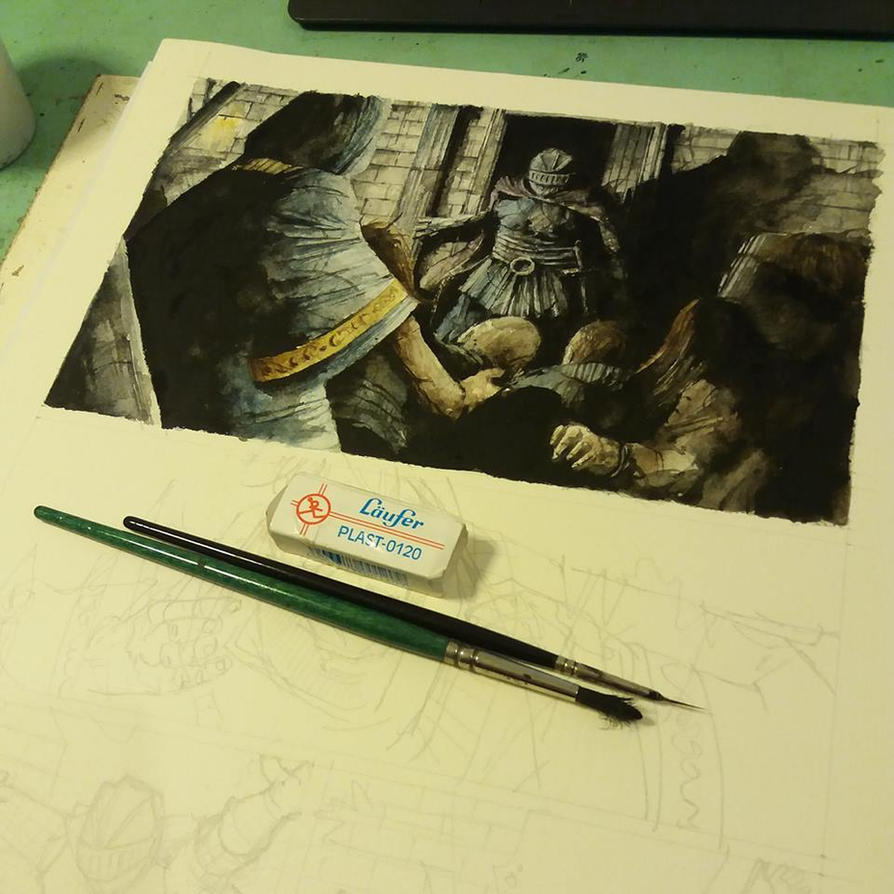Dark Souls comic. Progress. II by Daniele-Serra