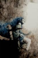 Blue hair by Daniele-Serra