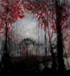 A gate in winter