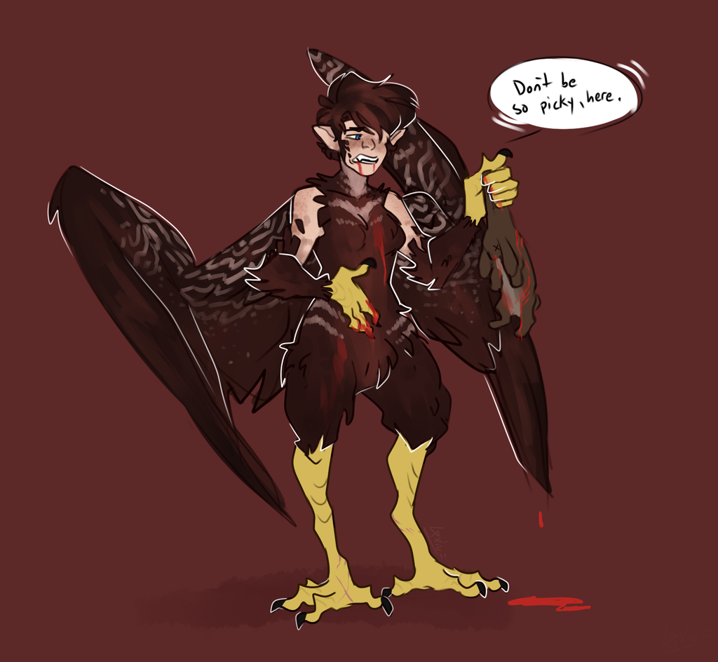 a hungry harpy by Loxiv