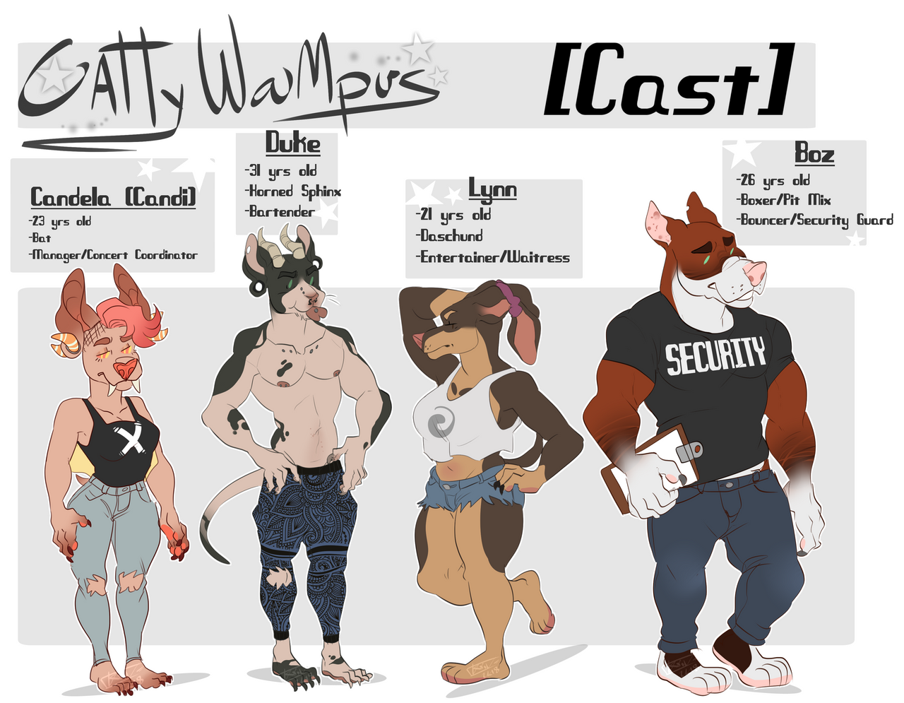 CattyWampus! Meet The Cast 1 by Loxiv