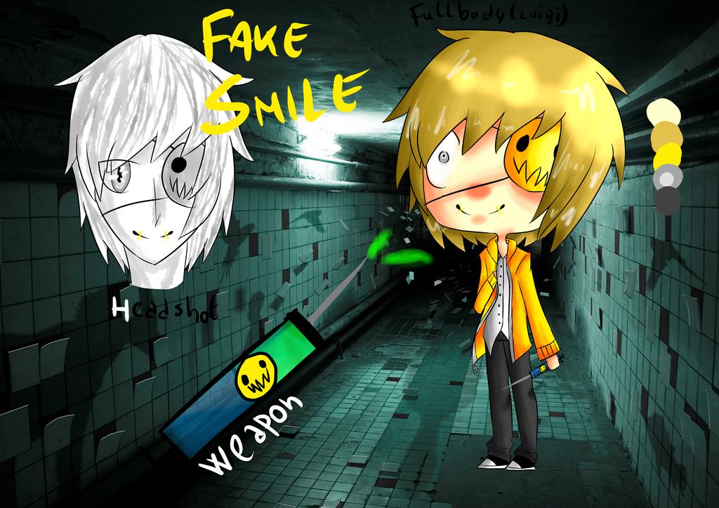 Creepypasta OC: Fake smile by darklugia99