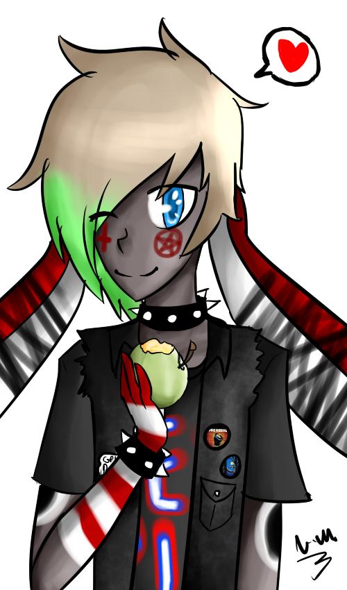 I like apples by darklugia99