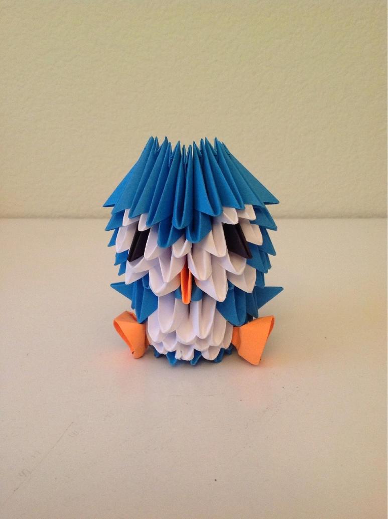 3D Origami Penguin By FantageJenny