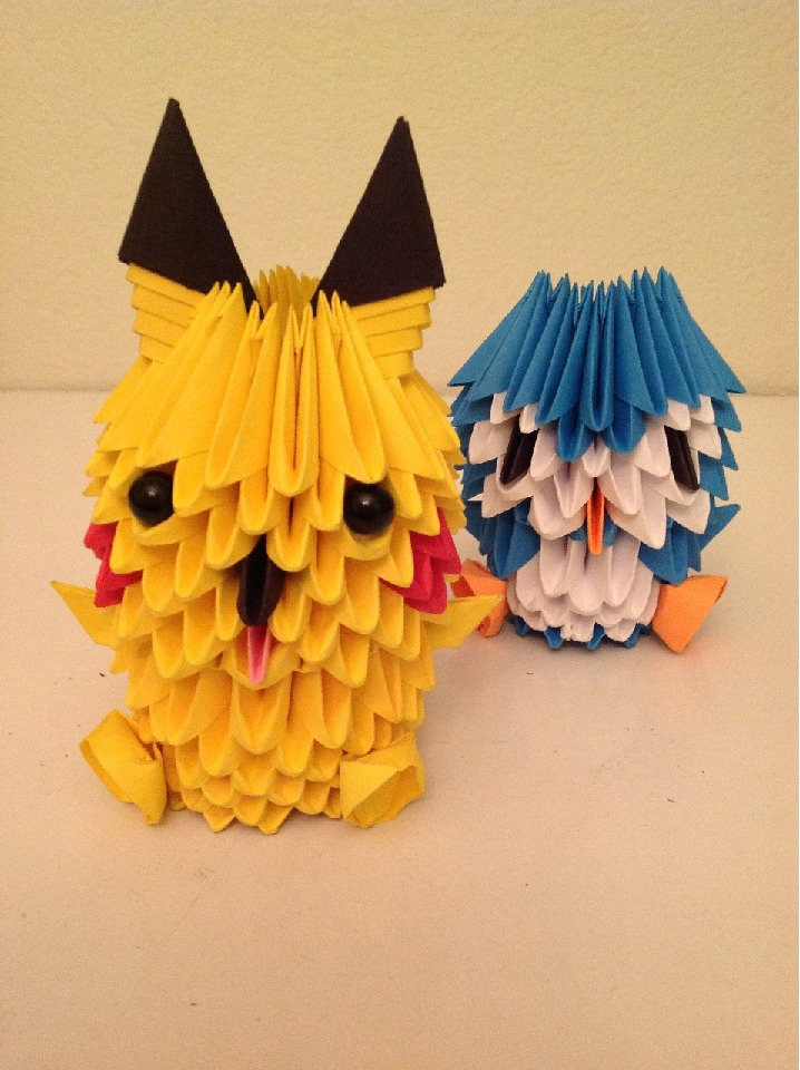 3d Origami Pikachu And Penguin By Fantagejenny On Deviantart