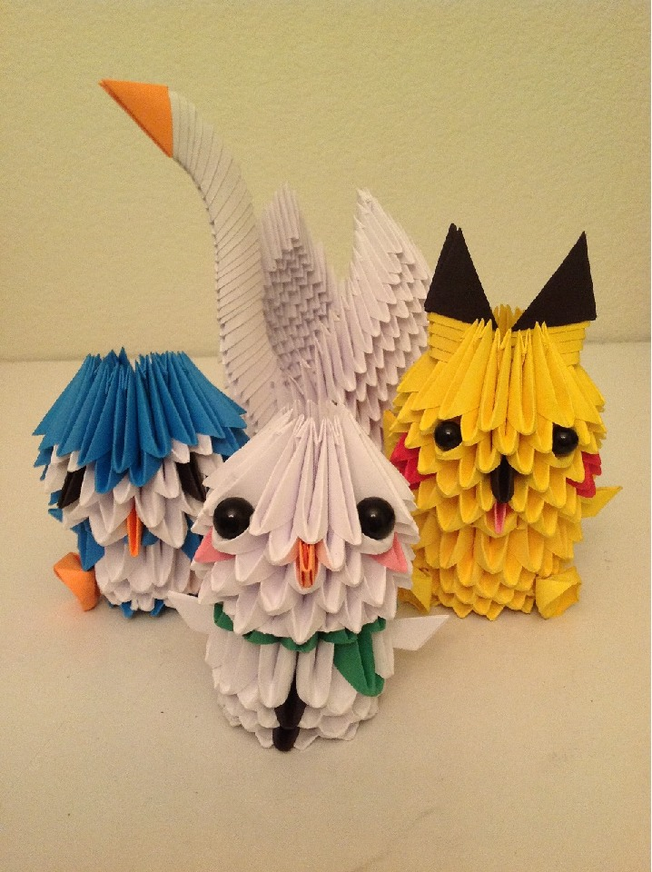 Origami Quadruple by FantageJenny