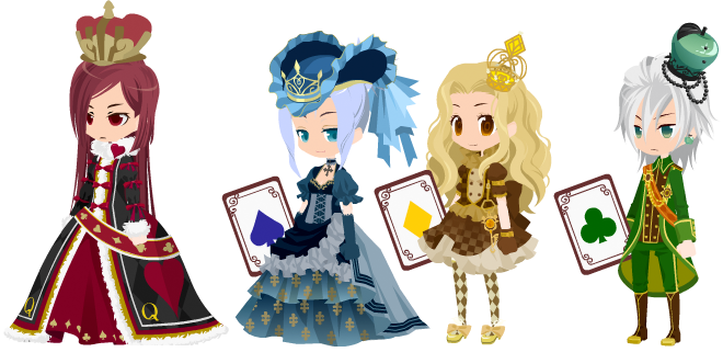 Royal adoptables-Card Queens-ALL TAKEN/ON HOLD- by 13-Shooting-Stars