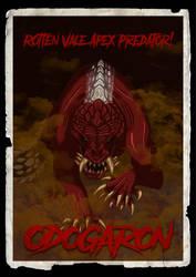 Odogaron in vintage monster movie poster by DragonoidKaiju