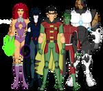 Os Jovens Titans by HERO-ZERO-1000