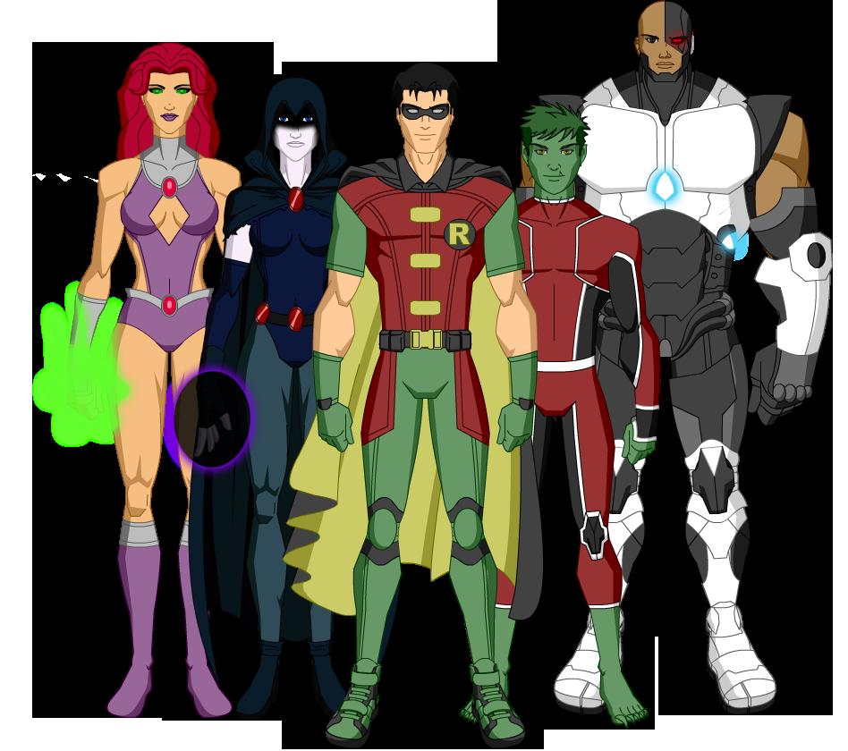 Os Jovens Titans By Hero Zero 1000 On Deviantart