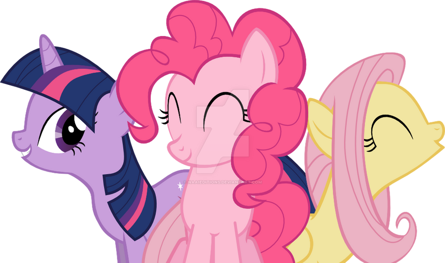 Pinkie pie twilight and fluttershy bailando by naaieditions on
