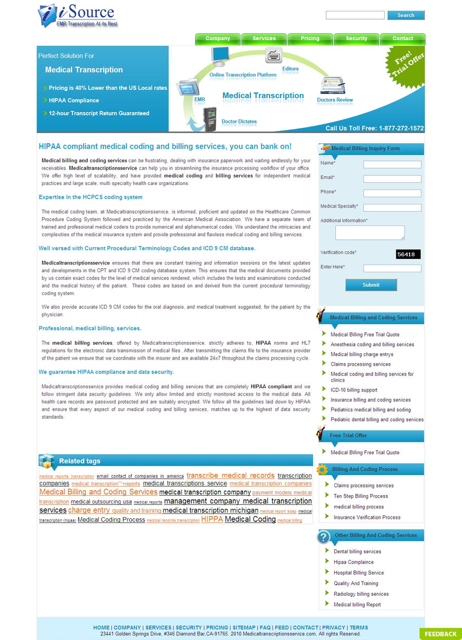 exact procedures for medical billing