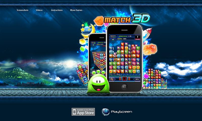 Match 3D website Design by matalangit on DeviantArt