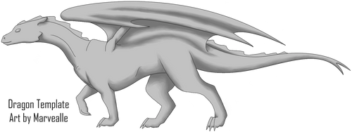 Pern Dragon Template by Marvealle