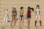 Female Character Lineup 1