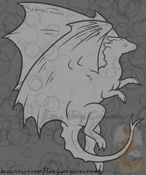 Pern Dragon Lineart by FoxyWingsCreations