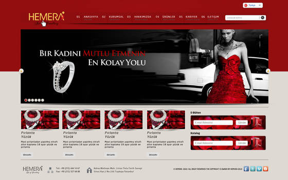 Hemera Gold Web Interface Red | By Zarif BALCI