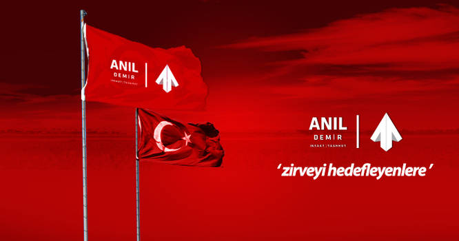Anil Demir Insaat Flag Mock-up By Zarif BALCI