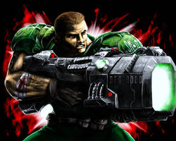 Doomguy and the BFG 9000 by AzakaChi-RD-17