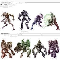 Halo - Jackals and Grunts concept batch