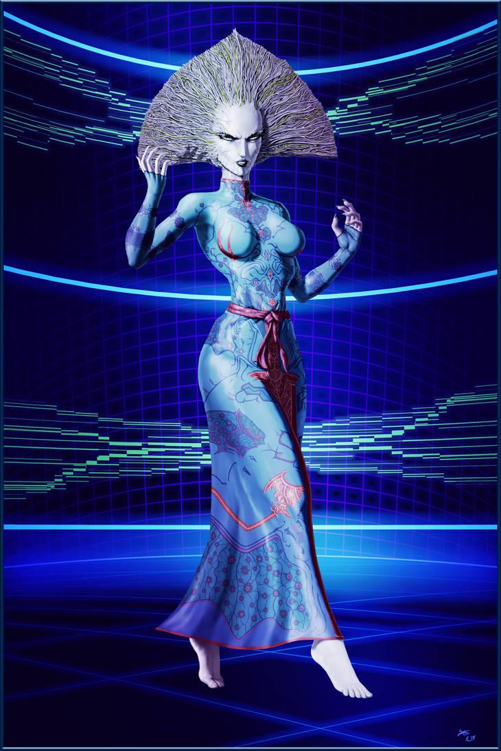 System Shock 2 - SHODAN Avatar Form